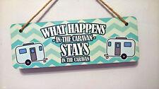 Hanging Sign (petite) MDF-ce qui se passe dans la Caravane reste dans la Caravane
