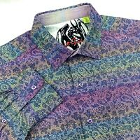 Robert Graham Paisley Lochness Colorful Sport Shirt Classic Fit Size Medium $228