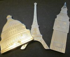 More details for shaped $1 coins by pobjoy mint big ben 2016 capitol building 2017 & eiffel tower