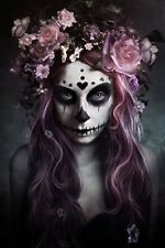 (LAMINATED) DOD SUGAR LACE SKULL ALEXANDRA V. BACH POSTER (61x91cm)  PICTURE ART