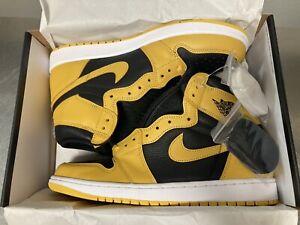Jordan 1 Retro High Pollen OG Nike Air Mens Black 555088-701 Size 12 DS
