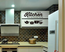 This Kitchen is seasoned with Love Wall Quotes Wall Stickers UK 288