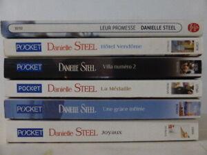 LOT DE 6 LIVRES DE POCHE DE DANIELLE STEEL