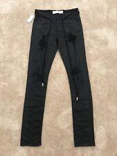 Off-White C/O Virgil Abloh Appliquéd Distressed Slim Jeans size 30