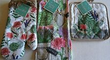 Kitchen Towel,Pot Holder and Oven Mitt  SPRING PLANTING