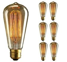 Lot 6 Ampoule E27 Edison Incandescent Bulb Vintage 60 W Transparent Chaud 220V