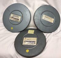 Vintage 8mm Film Work Safety Die Design, Cutting Bending Teamwork 3 reels