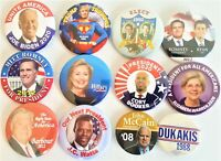 12 Presidential Campaign Buttons Biden Trump Clinton Romney McCain etc SET 72CC