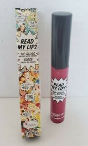 The Balm Cosmetics Read My Lips Lip Gloss- POW! NIB