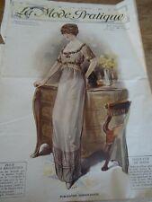 ANCIENNE REVUE MODE PRATIQUE PATRONS PALETOT COURT / CORSAGE 1912 N°28