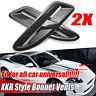 Carbon Fiber Look XKR Style ABS Bonnet Vents Intakes For Jaguar For BMW VW