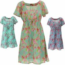 ANGEL SLEEVE TEA DRESS FLORAL EMPIRE WAIST BOHO HIPPIE MAURA by Gabrielle Parker