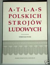 BOOK ATLAS OF POLISH FOLK COSTUME Leczycki regional ethnic dress central Poland