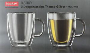 Bodum Professional Line Bistro Doppelwandige Thermo Gläser / 2er Set 0,3 Liter
