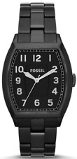 Fossil Men's FS4883 Narrator Black Tonneau Stainless Steel Watch