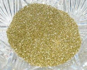 Real German GLASS GLITTER Fine Bright Gold 1 Ounce 90 Grit