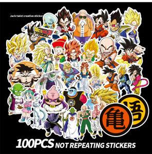 100 Piece Dragon Ball Z DBZ Character Laptop Decal Phone Decal Sticker Pack