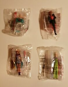 McDonalds Happy Meal Toys Full Set Of 4 Barbies From 1998 (Sealed)