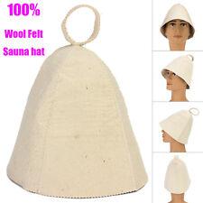 100% Wool Felt White Sauna Hat for Russian Banya Sauna Hut Supply Diameter 22cm