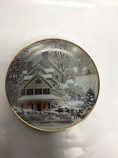 "Franklin Mint Heirloom Recommendation ""Winter Home"" Decorative Porcelain Plate"