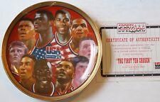 "1992 The First Ten Chosen Usa Basketball 8 1/2"" Le Plate w/Coa Sports Impres New"