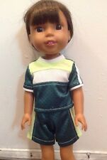 "Wellie Wishers Soccer Uniform Shirt/Shorts American Girl 14"" doll clothes outfit"