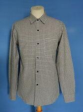 Awesome Agnes b Paris Check Cotton Button Front Men's Shirt 3