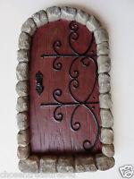 GNOME CASTLE DOOR VILLAGE fairy miniature 7 IN.garden decor GNOME yard ornament