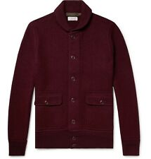J.Crew Wallace & Barnes Shawl-Collar Merino Wool Cardigan Size S In Burgundy