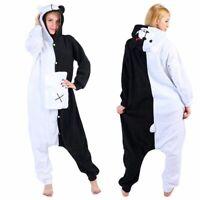 Anime Danganronpa Monokuma Cosplay Sleepwear Adults Kigurumi Pajamas Jumpsuit