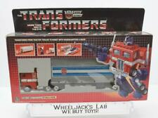 Optimus Prime NICE Box MIB 100% Complete 1985 Vintage Hasbro G1 Transformers
