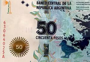 ARGENTINA $50 PESOS MALVINAS 2015 (Falklands)  BANKNOTE P-362 UNCIRCULATED