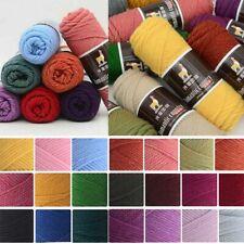 Medium Crochet Thread Yarn Thickness 100g Worsted Soft Wool Alpaca knitting New