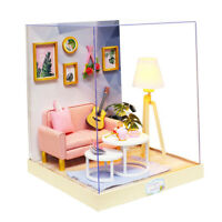 1/24 Doll House Miniature DIY Dollhouse Kit Toys for Kids Afternoon Tea Time