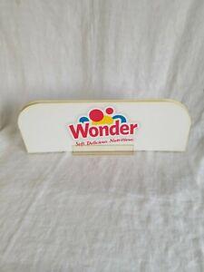 """Wonder Bread Sign Advertising Shelf """"TOPPER"""""""