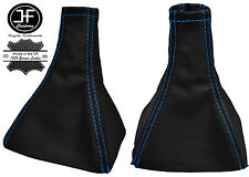 BLUE STITCH REAL LEATHER MANUAL GEAR GAITER FITS VAUXHALL OPEL VECTRA C 02-08
