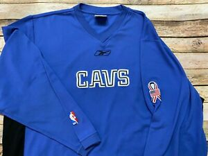Rare 2001-2002 9/11 CLEVELAND CAVALIERS Team Issue Warm Up Shirt REEBOK NBA 2XL