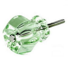 Handles for Kitchen Cabinets, Depression Glass Knob or Drawer Pulls #T42-SET/8