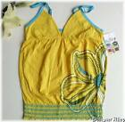 NWT ROXY Womens Yellow Floral Summer Top szL or XL NEW!