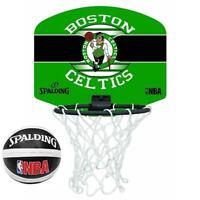 Spalding Basketball Official Team Logo Boston Celtics Miniboard & Miniball Set