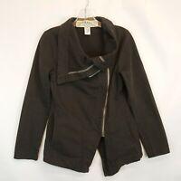 Prairie Underground Womens Tarpaulin Jacket in Tunnel Sz XS Asymetric Shawl $275