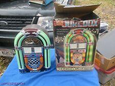 Nostalgia Classic Table Top Jukebox AM FM RADIO CD PLAYER IN BOX