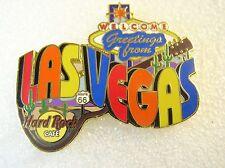 LAS VEGAS,Hard Rock Cafe Pin,Greetings From Series