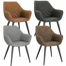 Esszimmerstühle Kunstleder Wohnzimmerstuhl Design Stuhl mit Armlehne Gestell