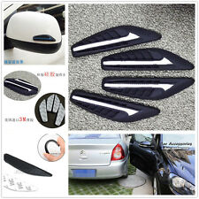 4 Pcs Car Rearview Mirror Side Bumper White Silicone Anti-Rub Door Edge Strips