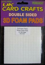 7mmx7mmx1mm Thick White Sticky Foam Pads x 196 Pads