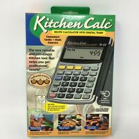 Kitchen Calc Recipe Conversion Calculator w/ Timer for Chefs Caterers Cooks 8300