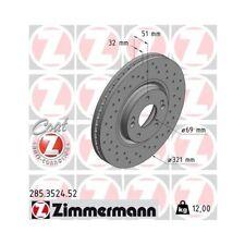2 disco freno Zimmermann 285.3524.52 SPORT COAT Z adatto per HYUNDAI