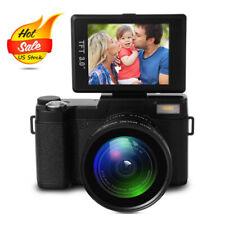 Zoom Camera Full HD 1080P Vlogging Camera Camcorder 24MP + Wide Angel Lens LF748
