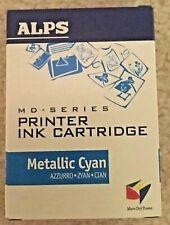 ALPS MD-SERIES INK CARTRIDGE METALLIC CYAN P/N 106020-00 - NEW IN BOX
